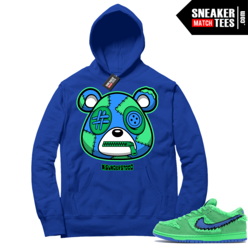 Grateful Dead Bear Green Nike SB Dunk Sneaker Match Hoodie Royal Misunderstood Bear