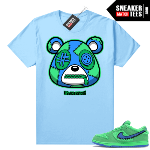 Grateful Dead Green Bear Sneaker Match Tees Baby Blue Misunderstood Bear