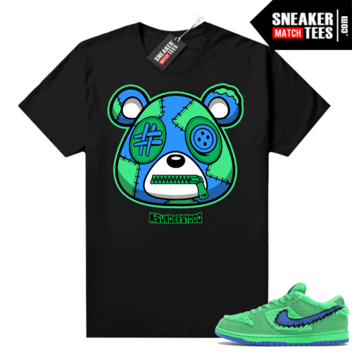 Grateful Dead Green Bear Sneaker Match Tees Black Misunderstood Bear