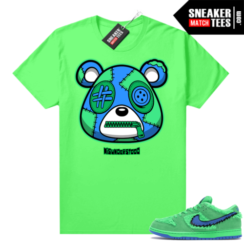 Grateful Dead Green Bear Sneaker Match Tees Neon Green Misunderstood Bear