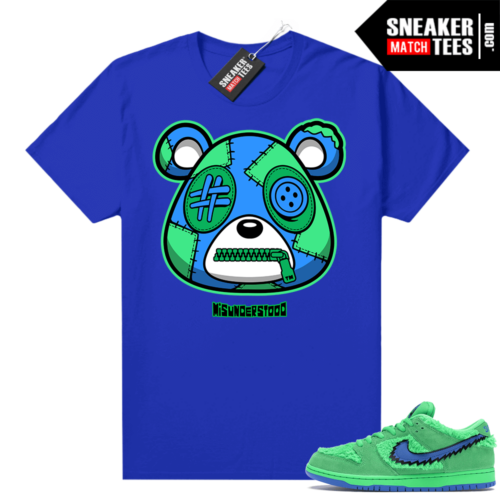 Grateful Dead Green Bear Sneaker Match Tees Royal Misunderstood Bear