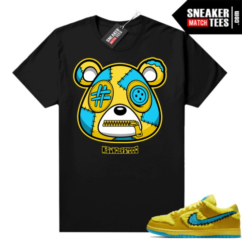 Grateful Dead Yellow Bear Sneaker Match Tees Black Misunderstood Bear