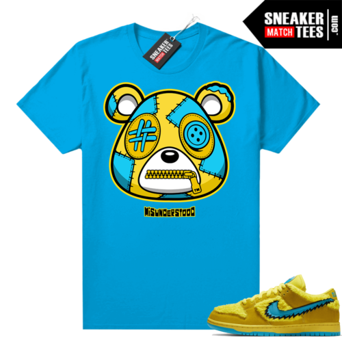 Grateful Dead Yellow Bear Sneaker Match Tees Royal Misunderstood Bear