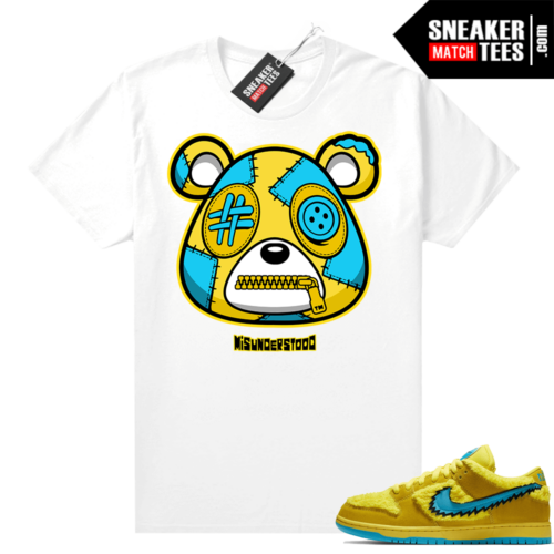 Grateful Dead Yellow Bear Sneaker Match Tees White Misunderstood Bear