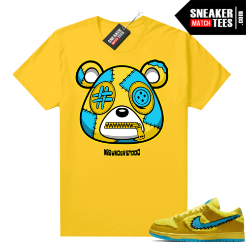 Grateful Dead Yellow Bear Sneaker Match Tees Yellow Misunderstood Bear