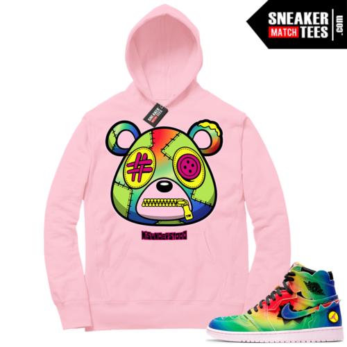 J Balvin 1s Sneaker Match Hoodie Pink Misunderstood Bear