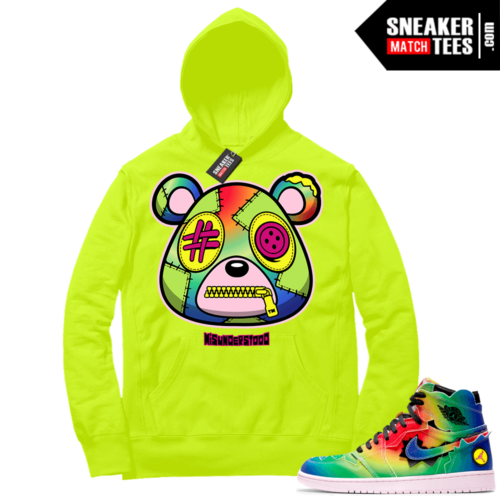 J Balvin 1s Sneaker Match Hoodie Volt Misunderstood Bear