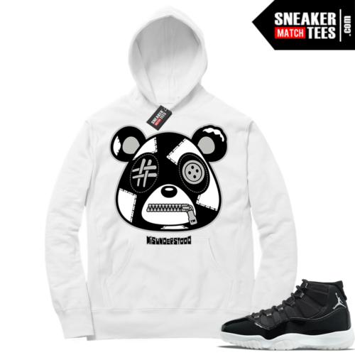 Jubilee 11s Sneaker Match Hoodie White Misunderstood Bear