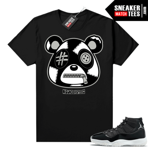 Jubilee 11s Sneaker Match Tees Black Misunderstood Bear