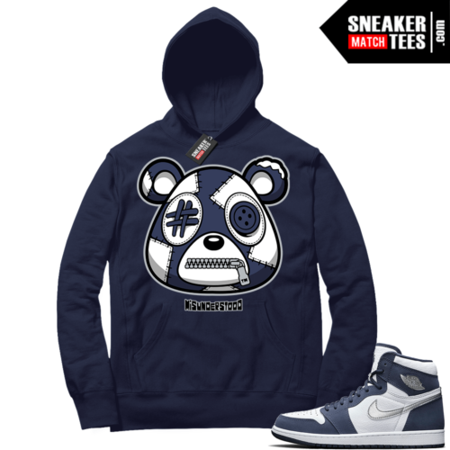 Navy 1s Sneaker Match Hoodie Navy Misunderstood Bear