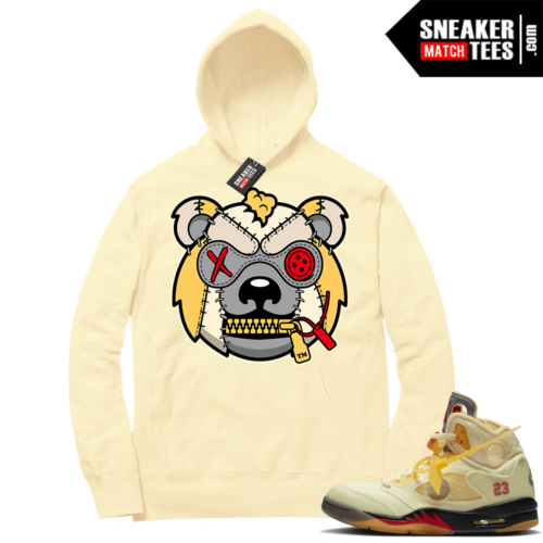 OFF White Jordan 5 Sail Sneaker Hoodies Light Yellow Misunderstood Grizzly