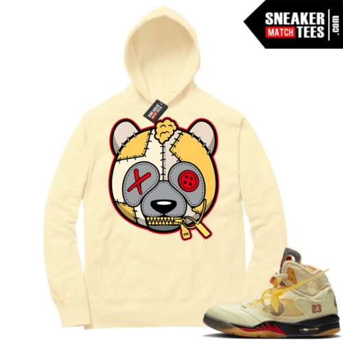 OFF White Jordan 5 Sail Sneaker Hoodies Light Yellow Misunderstood Panda