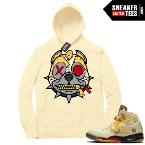 OFF White Jordan 5 Sail Sneaker Hoodies Light Yellow Misunderstood Pitbull