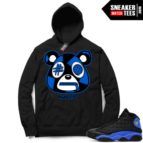 Royal 13s Sneaker Match Hoodie Black Misunderstood Bear
