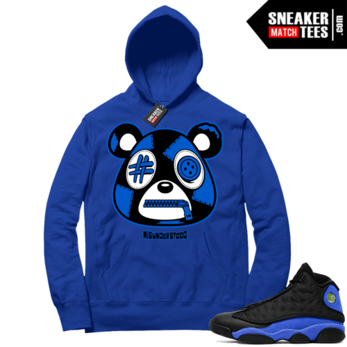 Royal 13s Sneaker Match Hoodie Royal Misunderstood Bear