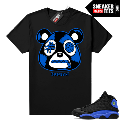 Royal 13s Sneaker Match Tees Black Misunderstood Bear