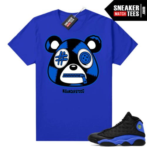 Royal 13s Sneaker Match Tees Royal Blue Misunderstood Bear
