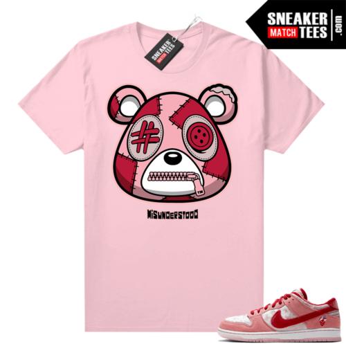 Strangelove Dunks Sneaker Match Tees Pink Misunderstood Bear