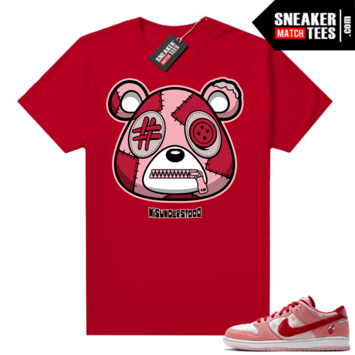 Strangelove Dunks Sneaker Match Tees Red Misunderstood Bear