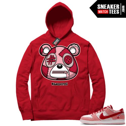 Strangelove Nike SB Dunk Sneaker Match Hoodie Red Misunderstood Bear