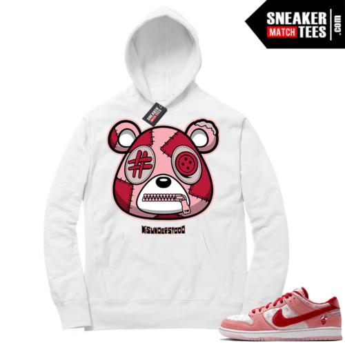Strangelove Nike SB Dunk Sneaker Match Hoodie White Misunderstood Bear