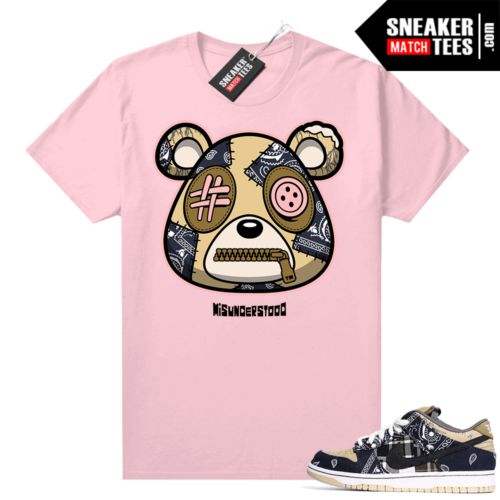 Travis Scott Dunks Sneaker Match Tees Pink Misunderstood Bear