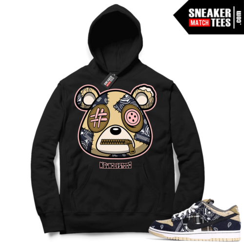Travis Scott Nike SB Dunk Sneaker Match Hoodie Black Misunderstood Bear