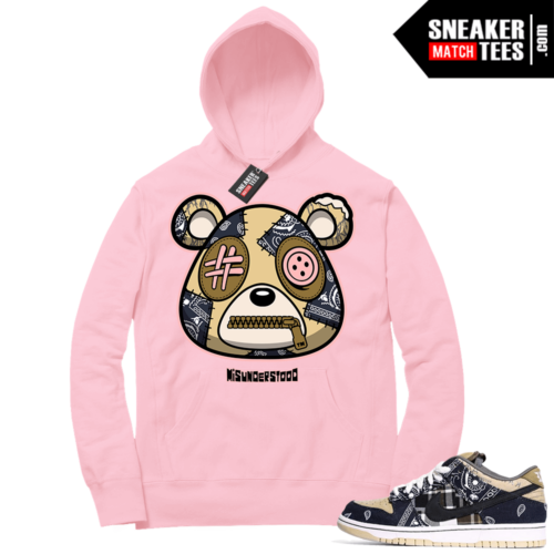 Travis Scott Nike SB Dunk Sneaker Match Hoodie Pink Misunderstood Bear