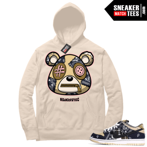 Travis Scott Nike SB Dunk Sneaker Match Hoodie Sail Misunderstood Bear