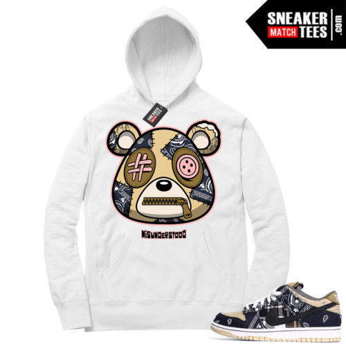 Travis Scott Nike SB Dunk Sneaker Match Hoodie White Misunderstood Bear