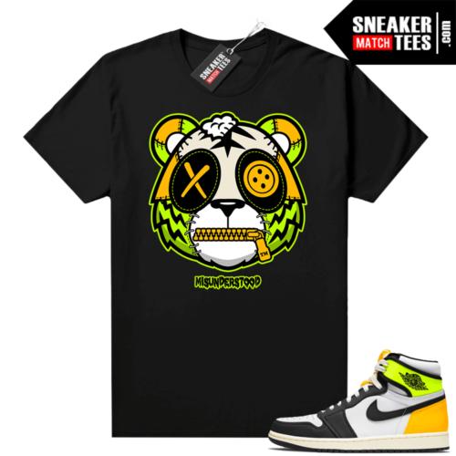 Volt Gold Jordan 1 Matching Sneaker Tees Shirts Black Misunderstood Tiger