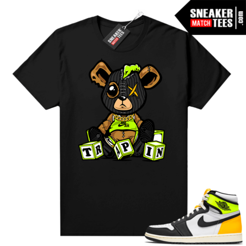 Volt Gold Jordan 1 Matching Sneaker Tees Shirts Black Trappin Misfit Teddy