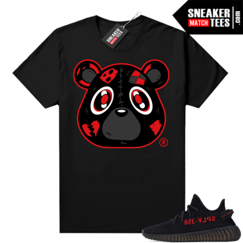 Yeezy Bred Shirt Black Heartless Bear