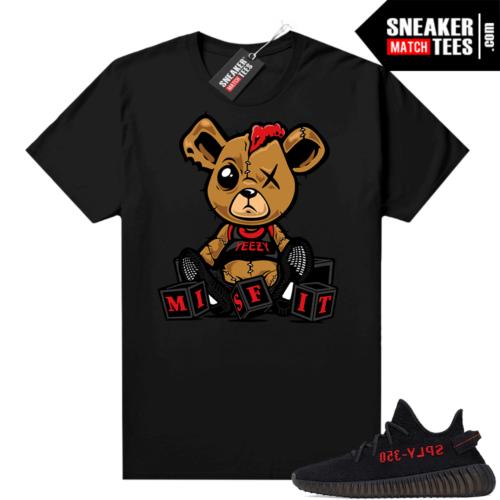 Yeezy Bred Shirt Black Misfit Teddy