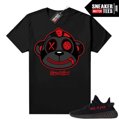 Yeezy Bred Shirt Black Misunderstood Monkey