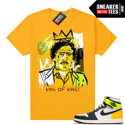 Air Jordan 1 Volt Gold shirt to match Gold Basquiat Pablo