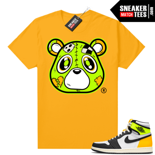 Air Jordan 1 Volt Gold shirt to match Gold Heartless Bear
