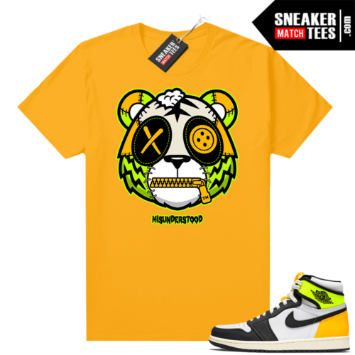 Air Jordan 1 Volt Gold shirt to match Gold Misunderstood Tiger