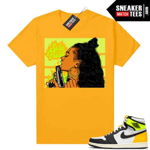 Air Jordan 1 Volt Gold shirt to match Gold Sole Heat