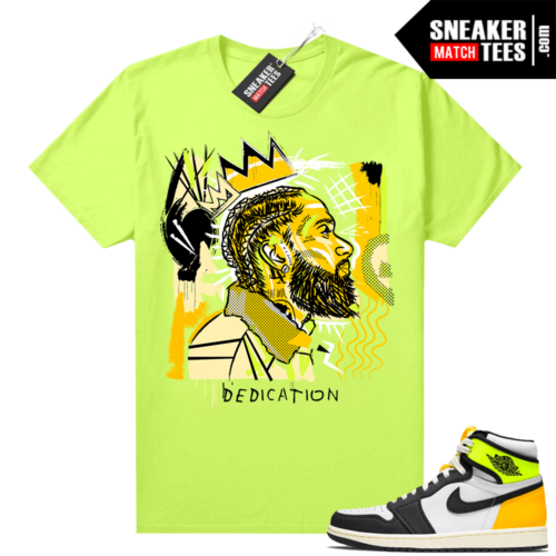 Air Jordan 1 Volt Gold shirt to match Neon Yellow Basquiat Nipsey