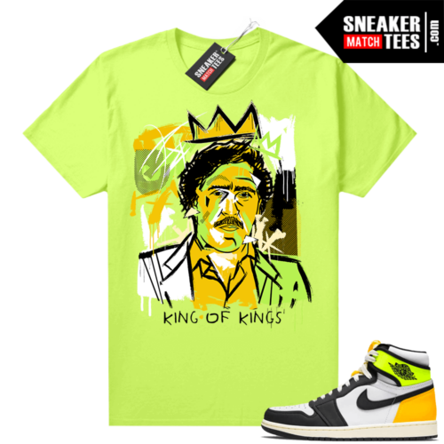 Air Jordan 1 Volt Gold shirt to match Neon Yellow Basquiat Pablo