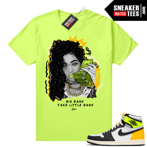Air Jordan 1 Volt Gold shirt to match Neon Yellow Big Bank
