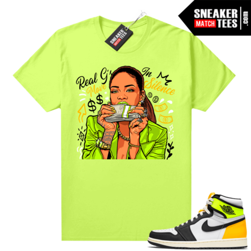 Air Jordan 1 Volt Gold shirt to match Neon Yellow Real Gs Move In Silence