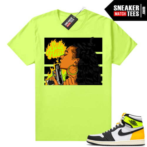Air Jordan 1 Volt Gold shirt to match Neon Yellow Sole Heat