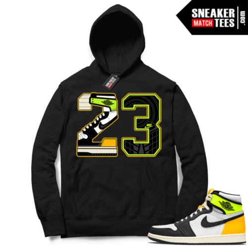 Jordan 1 Volt Gold Hoodie Sneaker Match Black 23