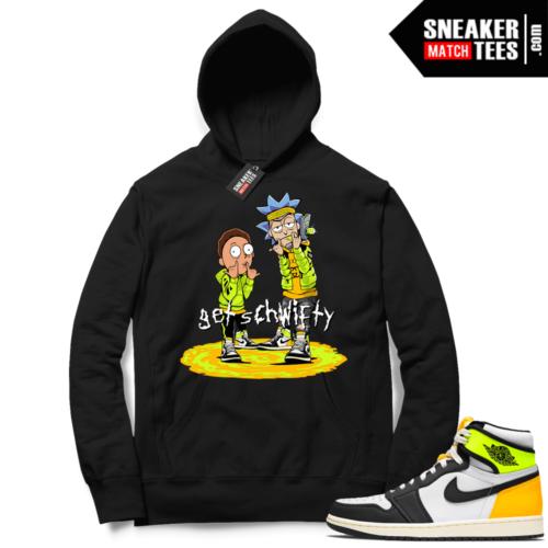 Jordan 1 Volt Gold Hoodie Sneaker Match Black Get Schwifty