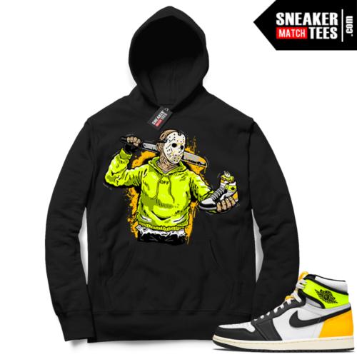 Jordan 1 Volt Gold Hoodie Sneaker Match Black Jason Cop