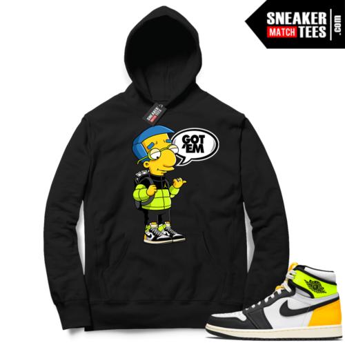 Jordan 1 Volt Gold Hoodie Sneaker Match Black Millhouse Got EM