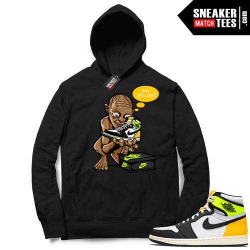 Jordan 1 Volt Gold Hoodie Sneaker Match Black My Precious