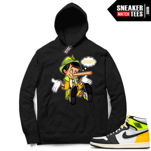 Jordan 1 Volt Gold Hoodie Sneaker Match Black No More Sneakers
